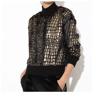 The Jontella Soft Metallic Sweater